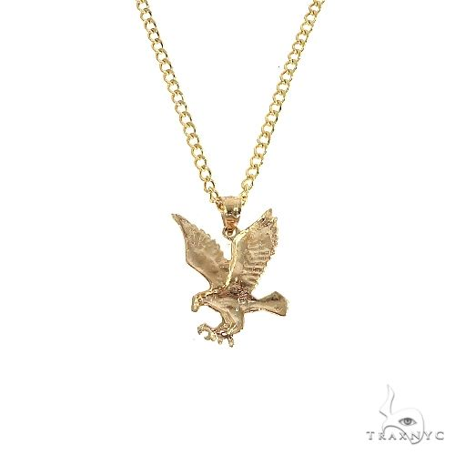 10K Yellow Gold Eagle Pendant Set 66612 Metal