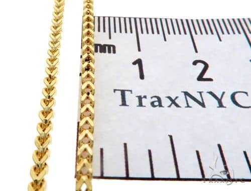 10K Yellow Gold Franco Link Chain 20 Inches 4.84 Grams 65432 Gold
