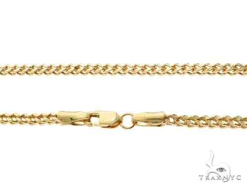 10K Yellow Gold Franco Link Chain 24 Inches 2mm 5.75 Grams 65431 Gold