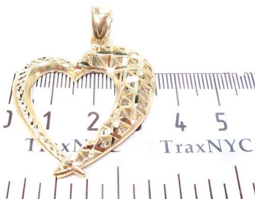 10K Yellow Gold Heart Charm 34275 Metal