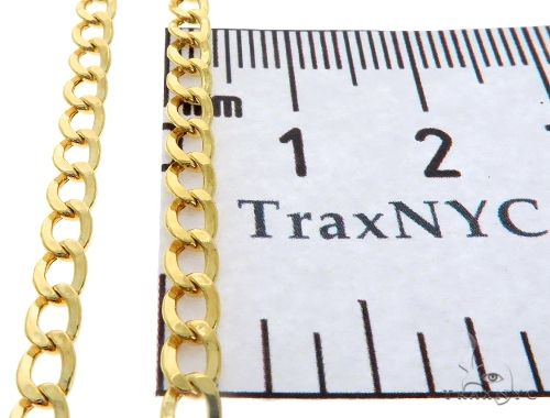 10K Yellow Gold Hollow Cuban Curb Link Chain 18 Inches 3.5mm 3.1 Grams 61598 Gold