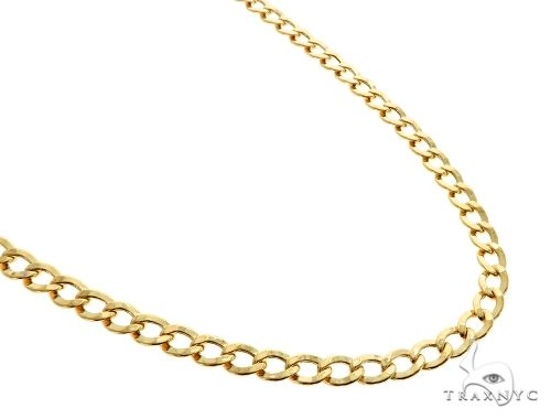 10K Yellow Gold Hollow Cuban Curb Link Chain 22 Inches 5.3mm 7.9 Grams 61606 Gold