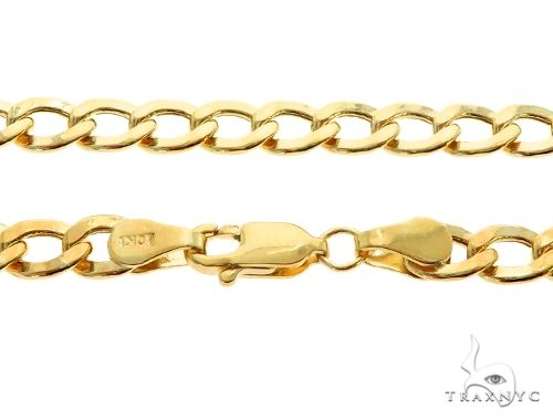 10K Yellow Gold Hollow Cuban Curb Link Chain 26 Inches 5.3mm 9.7 Grams 61608 Gold