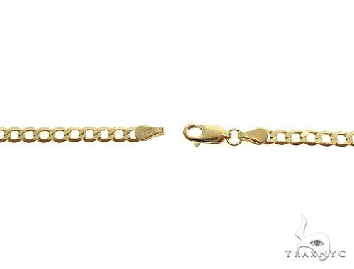 10K Yellow Gold Hollow Curb Link Chain 20 Inches 4.5mm 6.30 Grams 66568 Gold