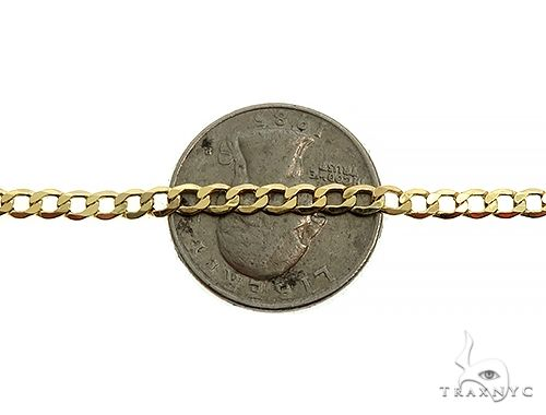 10K Yellow Gold Hollow Curb Link Chain 22 Inches 3.5mm 5.08 Grams 65985 Gold