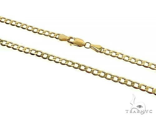 10K Yellow Gold Hollow Curb Link Chain 24 Inches 4.5mm 7.30 Grams 66570 Gold