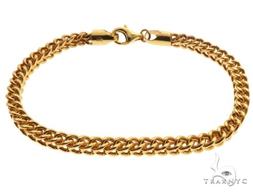 10K Yellow Gold Hollow Franco Link Bracelet 8.25 Inches 5mm 9.0 Grams 64117 Gold