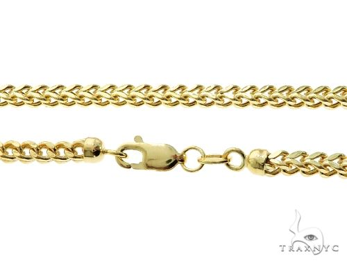10K Yellow Gold Hollow Franco Link Chain 22 Inches 2.8mm 9.1 Grams 64045 Gold