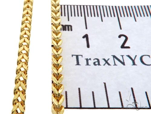 10K Yellow Gold Hollow Franco Link Chain 24 Inches 2.8mm 10.1 Grams 64044 Gold