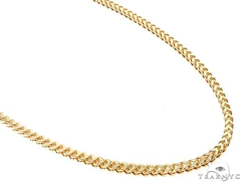 10K Yellow Gold Hollow Franco Link Chain 24 Inches 3.5mm 18.0 Grams 63986 Gold