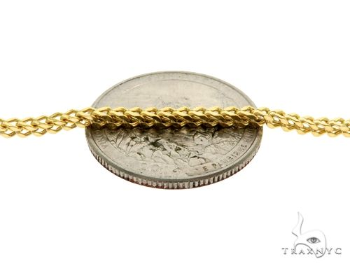 10K Yellow Gold Franco Link Chain 28 Inches 2mm 5.8 Grams 61596 Gold