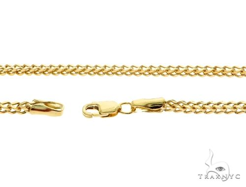 10K Yellow Gold Franco Link Chain 28 Inches 2mm 6.8 Grams 61596 Gold