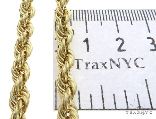 10K Yellow Gold Hollow Rope Link Chain 24 Inches 5.5mm 11.6 Grams 63378 Gold