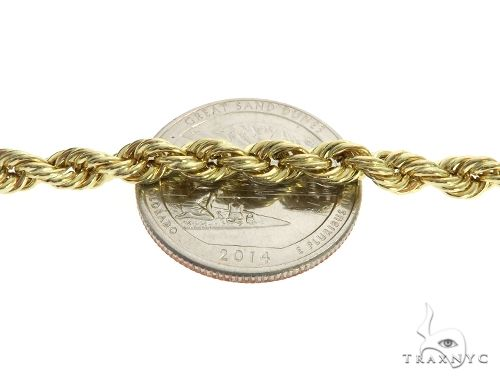 10K Yellow Gold Hollow Rope Link Chain 32Inches 5mm 12.4 Grams 63381 Gold