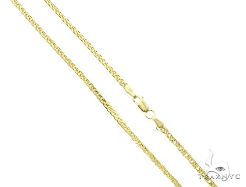 10K Yellow Gold Hollow Wheat Chain 16 Inches 1.70mm 2.5 Grams 63760 Gold