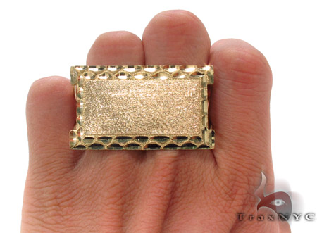 10K Yellow Gold ID Ring 33309 Metal