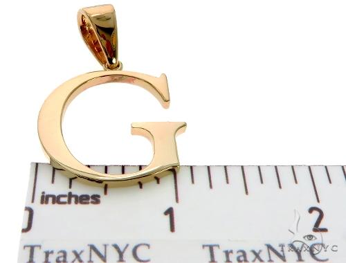 10K Yellow Gold Initial 'G' Pendant 58461 Metal