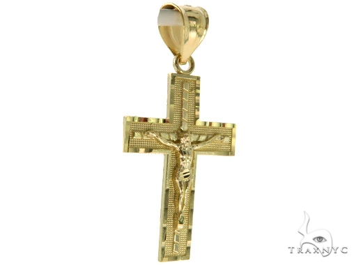 10K Yellow Gold Jesus Cross Crucifix 57084 Gold