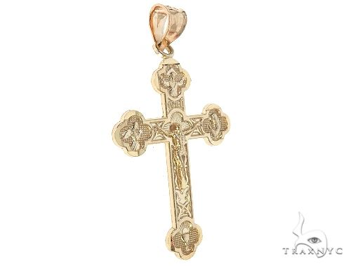 10K Yellow Gold Jesus Cross Crucifix 65487 Gold