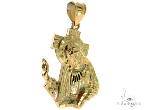10K Yellow Gold Jesus Pendant M 57073 Metal