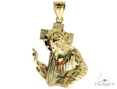 10K Yellow Gold Jesus Pendant S 57074 Metal