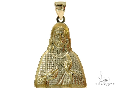 10K Yellow Gold Jesus Pendant 57086 Metal