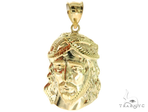 10K Yellow Gold Jesus Pendant S 57092 Metal