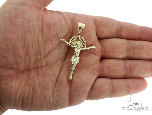 10K Yellow Gold Jesus Pendant L 57109 Style