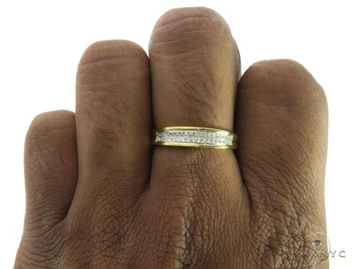 10K Yellow Gold MIcro Pave Diamond Ring 63573 Stone
