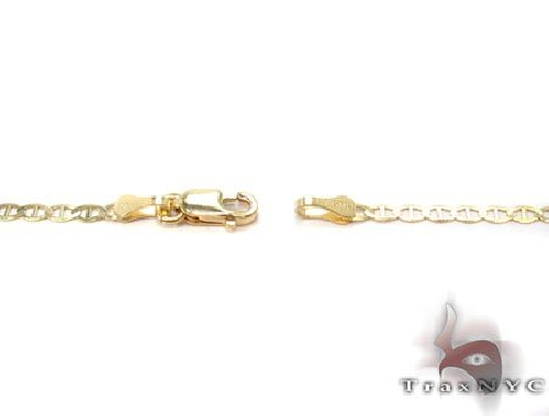 10K Yellow Gold Mariner Link Chain 18 Inches 1.8mm 2.5 Grams 63835 Gold