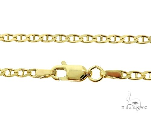 10K Yellow Gold Mariner Link Chain 18 Inches 2.3mm 5 Grams 63830 Gold