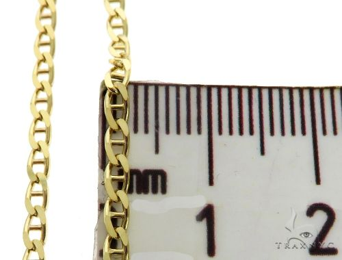 10K Yellow Gold Mariner Link Chain 20 Inches 2.3mm 5.0 Grams 63840 Gold