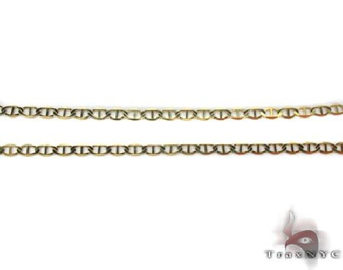 10K Yellow Gold Mariner Link Chain 24 Inches 2.3mm 6.2 Grams 63833 Gold