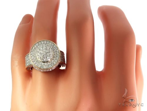 10K Yellow Gold Men's Diamond King Ring 65151 Stone