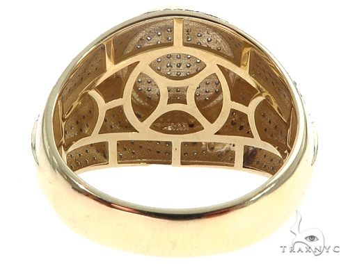 10K Yellow Gold Men's Diamond Ring 64783 Stone