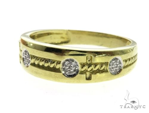 10K Yellow Gold Micro Pave Diamond Ring 63644 Stone
