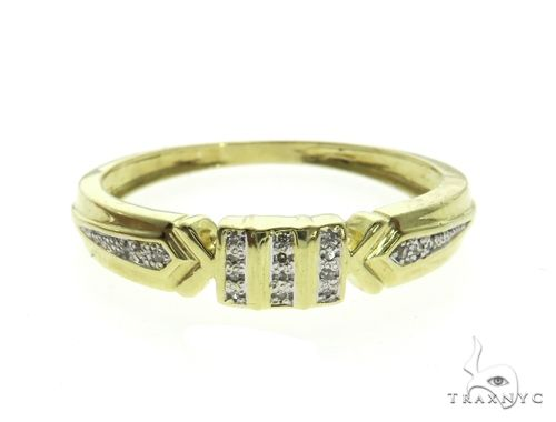 10K Yellow Gold Micro Pave Diamond Ring 63657 Anniversary/Fashion