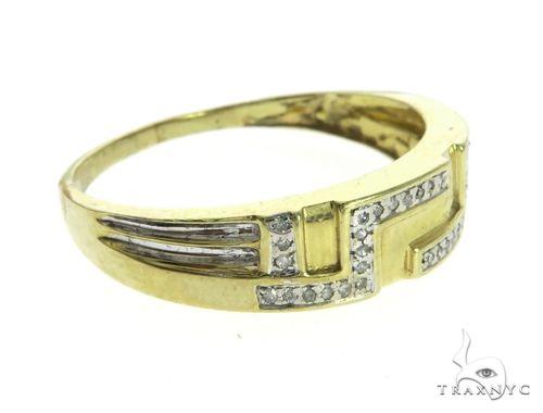 10K Yellow Gold Micro Pave Diamond Ring 63660 Stone
