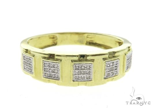 10K Yellow Gold Micro Pave Diamond Ring 63676 Stone