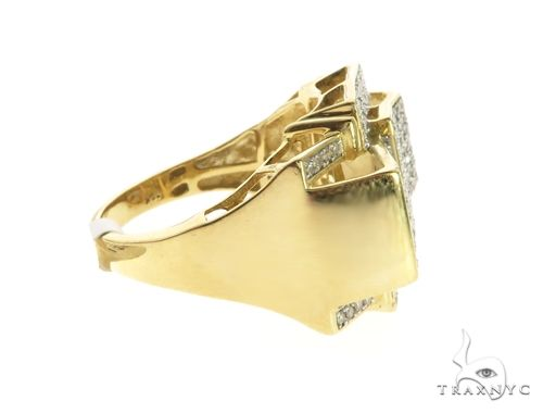 10K Yellow Gold Micro Pave Diamond Ring 63745 Stone