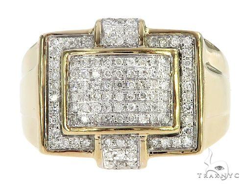 10K Yellow Gold Micro Pave Diamond  Ring 65333 Stone