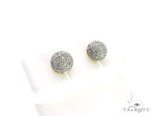 10K Yellow Gold Micro Pave Diamond Stud Earrings 63503 Stone