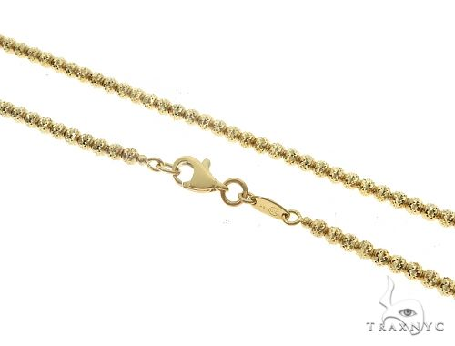 10K Yellow Gold Laser Moon Cut Link Chain 22 Inches 2.5mm 12.0 Grams 65288 Gold