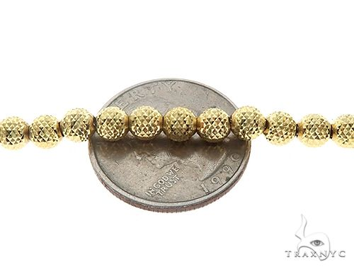 10K Yellow Gold Laser Moon Cut Link Chain 26 Inches 5mm 31.5 Grams 65289 Gold