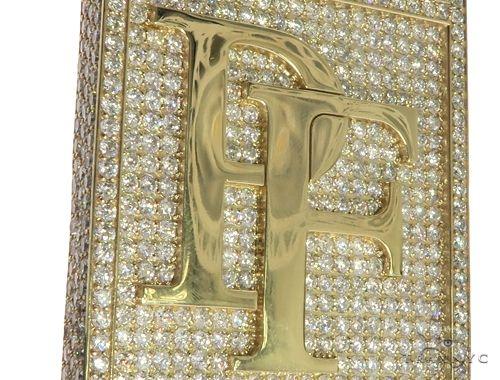 10K Yellow Gold Prong Diamond Custom Made Pie Flippa Pendant 63529 Metal