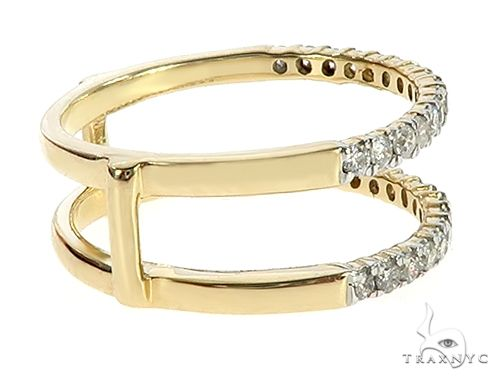 10K Yellow Gold Prong Diamond Two Row Anniversary Engagement Ring 65340 Anniversary/Fashion