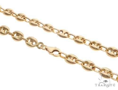 10K Yellow Gold Puffed Gucci Link 24 Inches 6mm 22.2 Grams 64965 65543 Gold