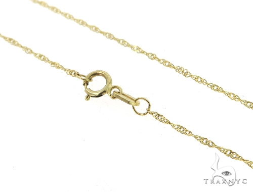 10K Yellow Gold Rope Chain 16 Inches 1mm 0.8 Grams 49839 Gold