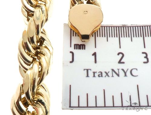 10K Yellow Gold Rope Chain 30 Inches 15mm 82.60 Grams 64035 Gold
