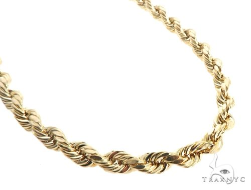 10K Yellow Gold Rope Chain 30 Inches 8mm 29.50 Grams 64037 Gold